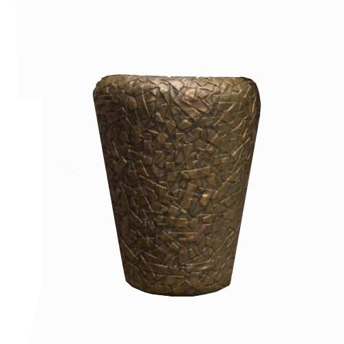 Indoor Pottery Barren planter bronze (Диаметр 40см / Высота 50см)