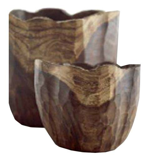Indoor Pottery Planter hagen wood natural (Длина 35см / Ширина 26см / Высота 31см)