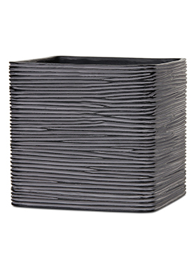 Кашпо Capi nature planter square ii rib black