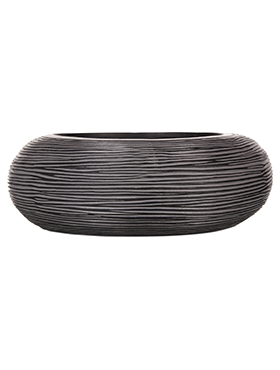 Кашпо Capi nature bowl round rib i black