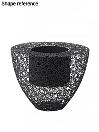Кашпо Wire planter round grey