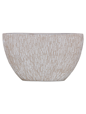 Кашпо Capi nature stone planter oval i ivory