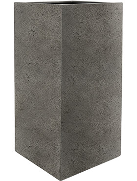 Кашпо Grigio high cube natural-concrete