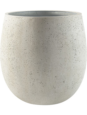 Кашпо Grigio balloon antique white-concrete