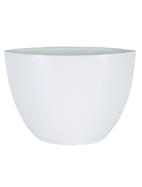 Кашпо Indoor pottery planter cresta pure white