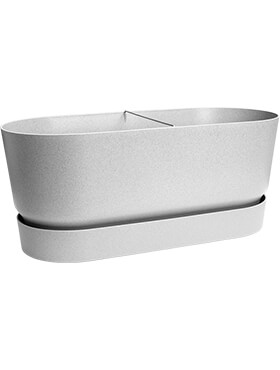 Кашпо Greenville terrace trough wheels living concretev