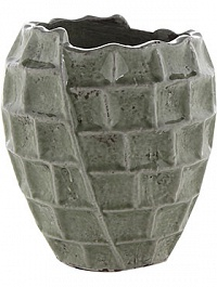 Кашпо Indoor pottery pot high square design mint