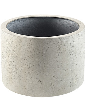 Кашпо Grigio cylinder antique white-concrete