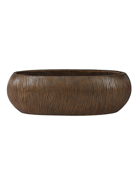 Кашпо Twist boat planter bronze