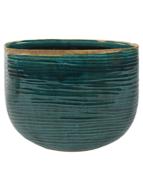 Кашпо Indoor pottery planter iris turqoise