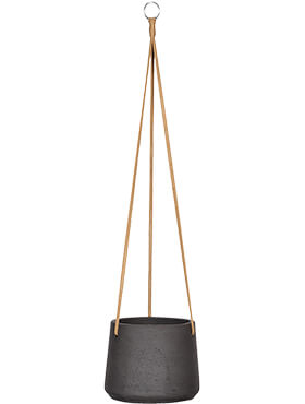 Подвесное кашпо Rough patt (hanging) black washed