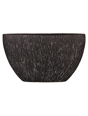 Кашпо Capi nature stone planter oval i black