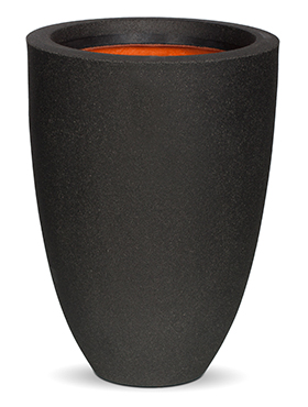 Кашпо Capi urban smooth nl vase elegance low i black