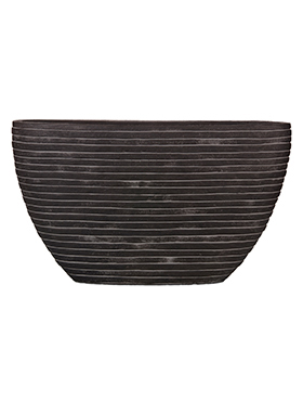 Кашпо Capi nature row planter oval i black