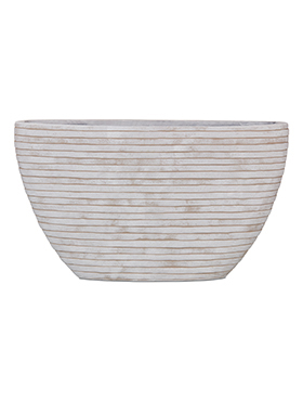 Кашпо Capi nature row planter oval i ivory