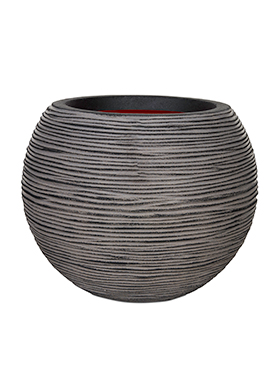 Кашпо Capi nature rib nl vase ball anthracite