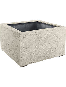 Кашпо Grigio low cube antique white-concrete
