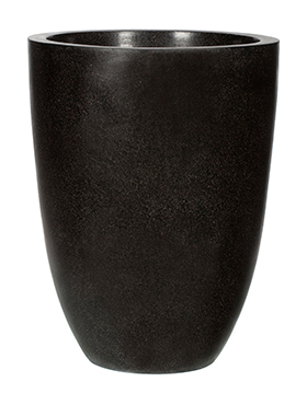 Кашпо Capi lux vase elegance low black