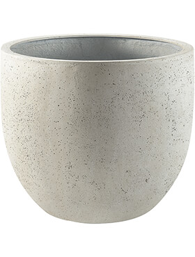 Кашпо Grigio new egg pot antique white-concrete