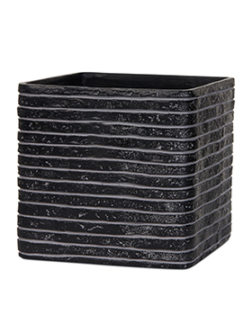 Кашпо Capi nature row planter square iv black