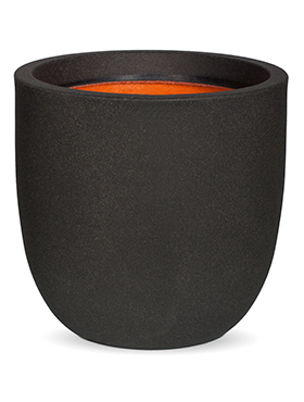 Кашпо Capi urban smooth nl egg planter iv black
