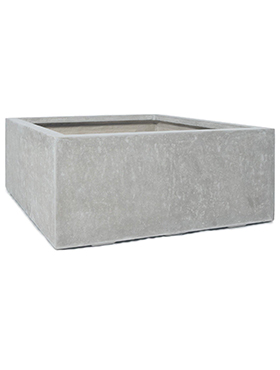 Кашпо Division plus square natural-concrete