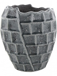 Кашпо Indoor pottery pot high square design blue