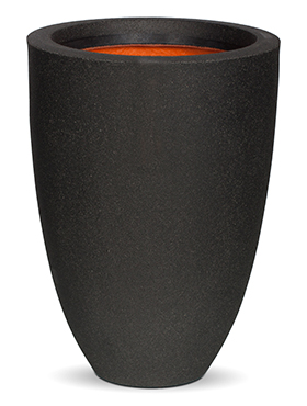 Кашпо Capi urban smooth nl vase elegance low ii black