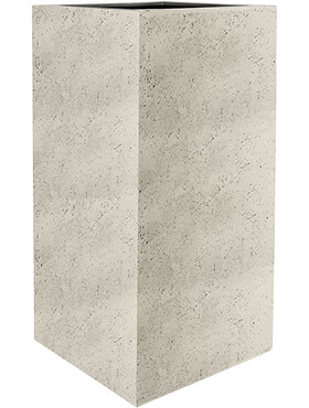 Кашпо Grigio high cube antique white-concrete