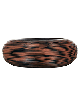 Кашпо Capi nature bowl round rib i brown