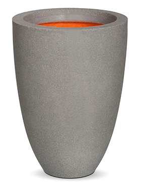 Кашпо Capi urban smooth nl vase elegance low ii light grey