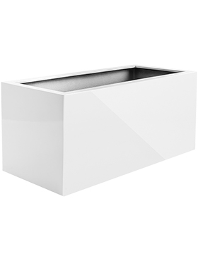 Кашпо Argento box shiny white