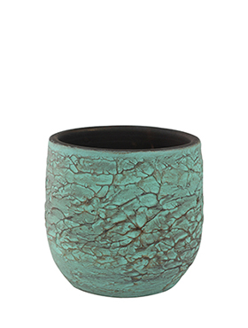 Кашпо Indoor pottery pot evi antiq bronze