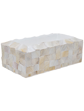 Кашпо Oceana pearl table planter rectangle white