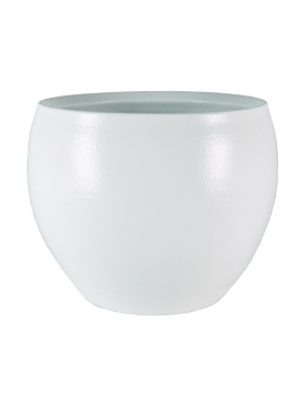Кашпо Indoor pottery pot cresta pure white