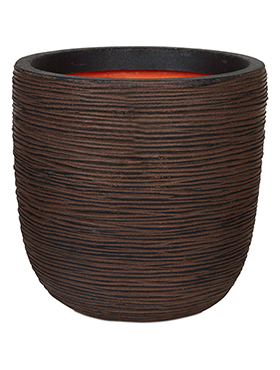 Кашпо Capi nature rib nl planter ball dark brown