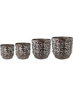 Кашпо Indoor pottery pot linske copper (комплект из 4 шт.)