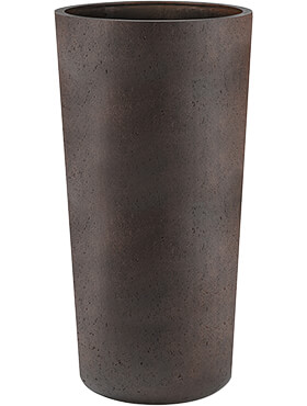 Кашпо Grigio vase tall rusty iron-concrete