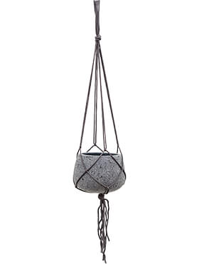 Подвесное кашпо Stone (hanging) mini pax laterite grey