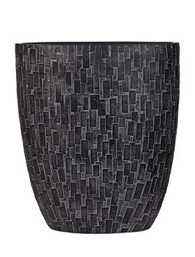 Кашпо Capi nature stone oval planter iii black