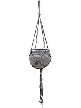 Подвесное кашпо Stone (hanging) hans laterite grey