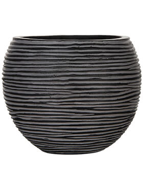Кашпо Capi nature vase ball rib iiii black