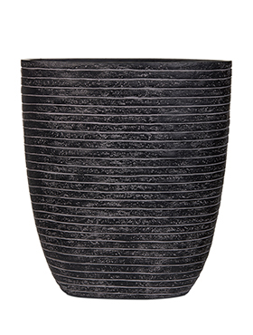 Кашпо Capi nature row oval planter iii black