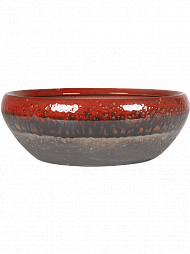 Кашпо Amora bowl black red