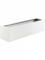 Кашпо Argento balcony box shiny white