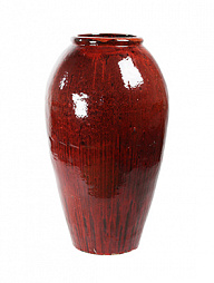 Ваза Mystic balloon vase red black